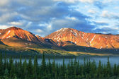 Montagne su alaska — Foto Stock