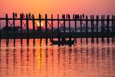 Bridge in Myanmar — Stock Photo