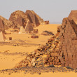 Pyramid in Sudan - Stock Photo