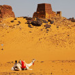 Pyramid in Sudan — Stock Photo