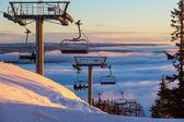 滑雪度假村 — 图库照片