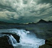 Vattenfall på island — Stockfoto