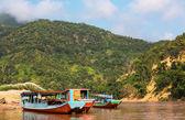 Barco en laos — Foto de Stock
