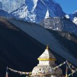 Stupa in Himalaya - Stock Photo