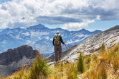 Hike in Bolivian mountains — Stock Photo