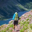 Hike in Glacier — Stockfoto