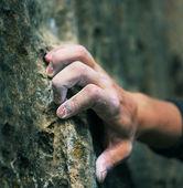 Climber hand — Stock Photo
