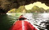 Canoe in Halong — Stock Photo