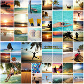Beach collage — Stock Photo