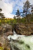 Norveç nehirde — Stok fotoğraf
