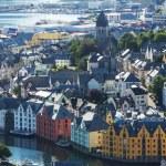 Alesund: Norway's most beautiful city — Stock Photo