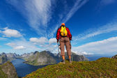 Hike in Lofoten — Stock Photo