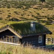 Hut in Norway mountains — Stock Photo