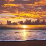 海上日落 — 图库照片