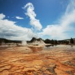 Geyser in Yellowstone — Stock Photo
