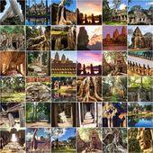 Angkor collage — Stock Photo