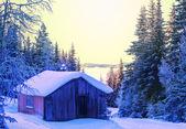 Cabana de inverno — Fotografia Stock