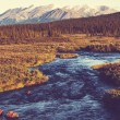 River on Alaska — Stockfoto