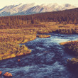 River on Alaska — Foto Stock