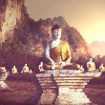 Buddhas garden — Stock Photo