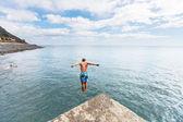 Boy jumping — Stock Photo