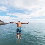 Jumping boy — Stock Photo