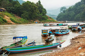 Boat in Laos — Stock Photo