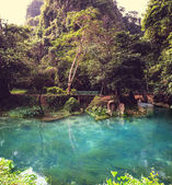 Vang Vieng landscapes — Stock Photo