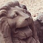 Lion Statue on Mount Nemrut — Stock Photo