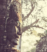 Stone face at Bayon Temple — Stock Photo