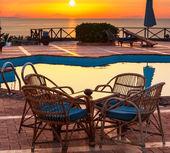 Chair near swimming pool — Stock Photo