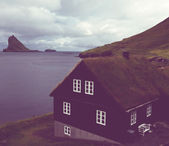 Vintage building on Faroe islands — Stock Photo