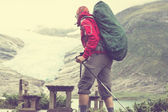 Hike in Norway mountains — Stock Photo