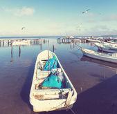 Barco en méxico — Foto de Stock