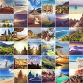 Indonesia collage — Stock Photo