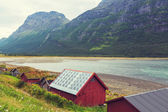Huts in Norway — Stock Photo