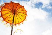 Umbrella in temple — Stok fotoğraf