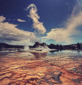 Geyser in Yellowstone — Stock Photo