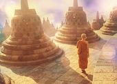 Borobudur tapınağı — Stok fotoğraf