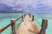 бордуолк на пляже — Стоковое фото
