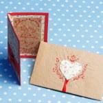 Valentine's day handmade love message — Stock Photo #41743943