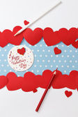 Valentine's day love message — Stock Photo