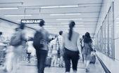 Passengers in Shanghai Pudong International Airport Airport — Stock Photo