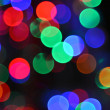 Defocused christmas lights background. — Stock Photo