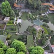 Aerial view of a traditional Chinese garden. — Zdjęcie stockowe