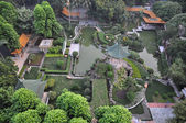 Aerial view of a traditional Chinese garden. — Stock Photo