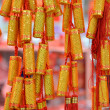 The pendant shiny colorful spring festival decoration firework for Chinese traditional new year. — Stock Photo