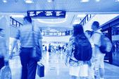Pasażerów w szanghaju międzynarodowe lotnisko pudong — Zdjęcie stockowe