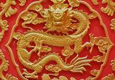 Chinesische antike holz golden flying dragon — Stockfoto