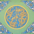 图库照片: Ancient chinese traditional dragon pattern